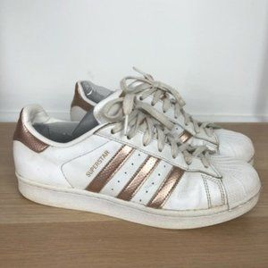 ADIDAS shell toe classic white / rose gold sneaker